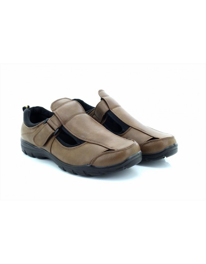 DR Keller Justin Men's Tan Faux Leather Summer Closed to Sandal Shoes