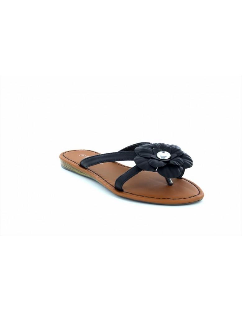 53813196857b75 Ladies Sophie Jewelled Flat Slip On Mule Flip Flop Summer Sandals ...