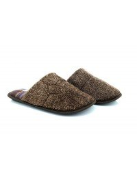 Mens Slip On Cool Warm Indoor Microsoft Textile Tartan Check Slippers