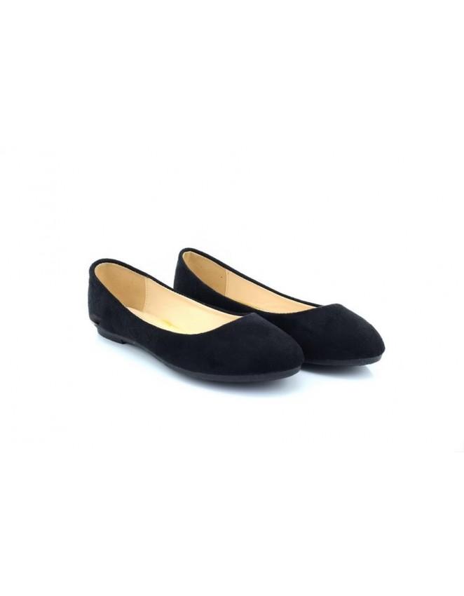 Ballerina Dolly Style Pumps Black Suede