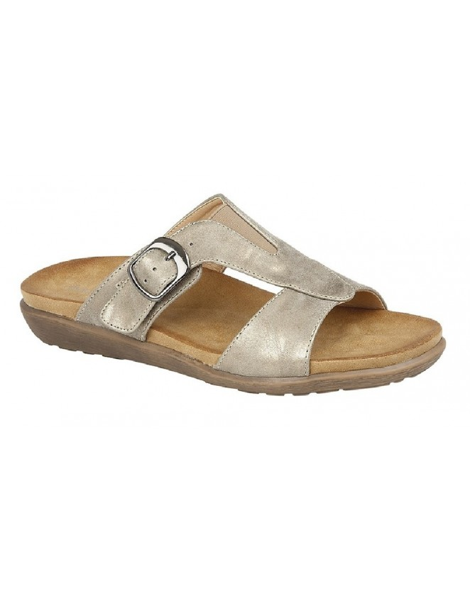 6d9f72150 Boulevard L9543 Wide Fit Buckle Mule Summer Sandals