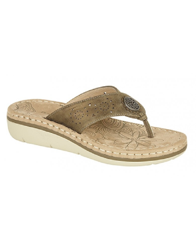 fca01060edc Boulevard Dina L967 Punched Toe Post Padded Summer Mule Sandals ...