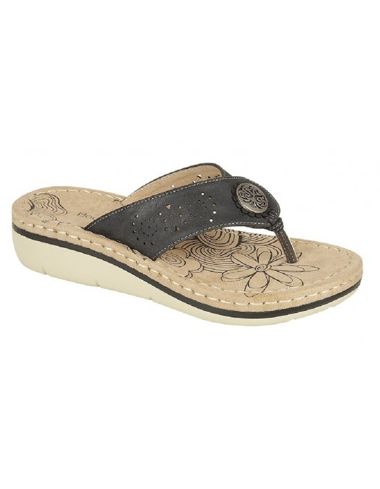 8e2012136518 Boulevard Ellis Toe Post Wedge Comfy Fit Flops Summer Mule Slip On ...