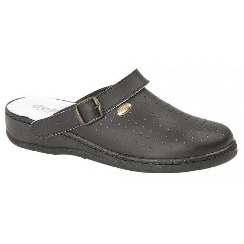 San Malo Mens Coated Leather Swivel Bar Nursing Clogs