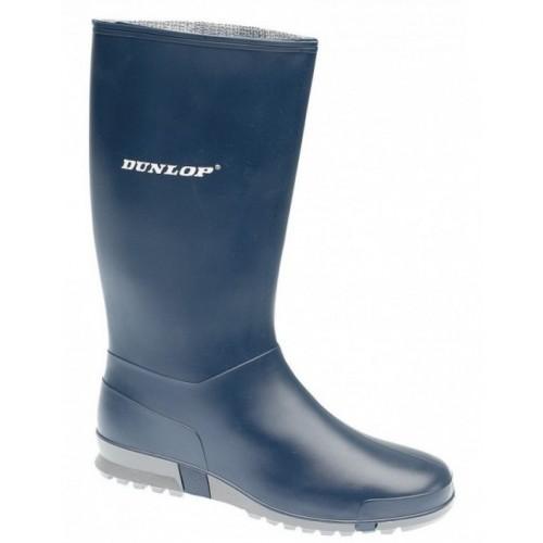 Dunlop Sport Wedge Wellington Navy Blue PVC