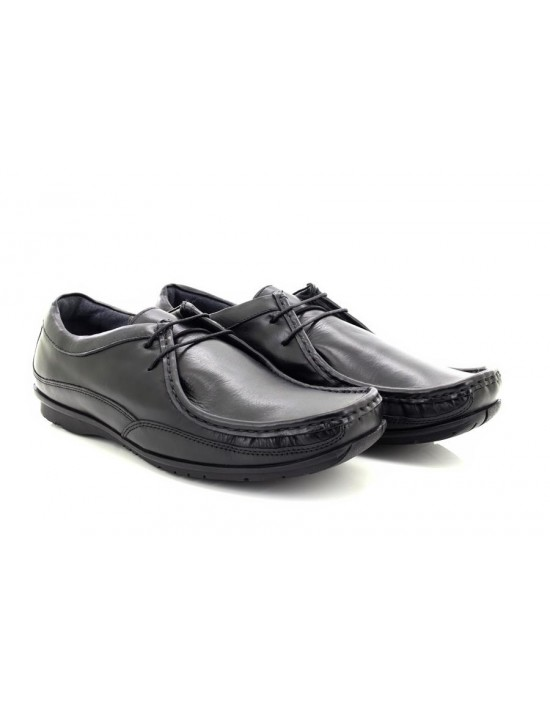 b3e22720d3e Mens Lucini Brown Leather Smart Formal Slip On Cuban Heel Shoes 26544