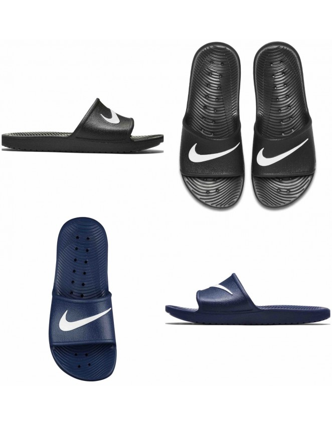 retro comprar más nuevo valor por dinero NIKE FLIP FLOPS Mens Womens Kawa Slides Beach Pool Sandals Slippers Bl
