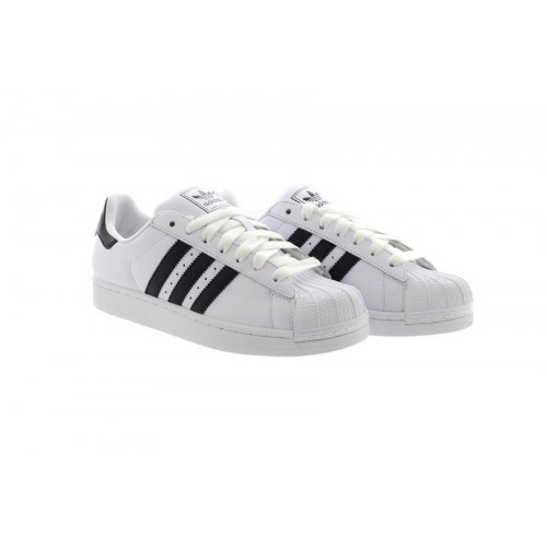 sports shoes b4402 9f58c Mens White Adidas SUPERSTAR ORIGINALS Trainers Sneakers Black 3 Stripes  G17068
