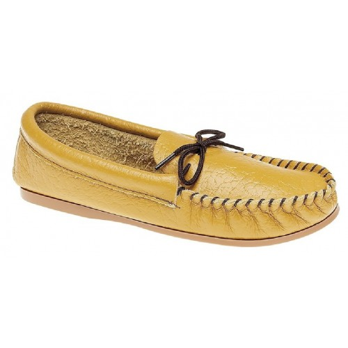 Mokkers GORDON Leather British Made Moccasin Slippers Tan Softie Leather