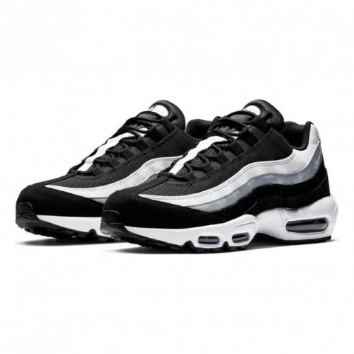 vente chaude en ligne 3cba5 c7914 Details about Nike Air Max 95 Essential Running Shoes Multicolour  (Black/White/Wolf Grey 038)
