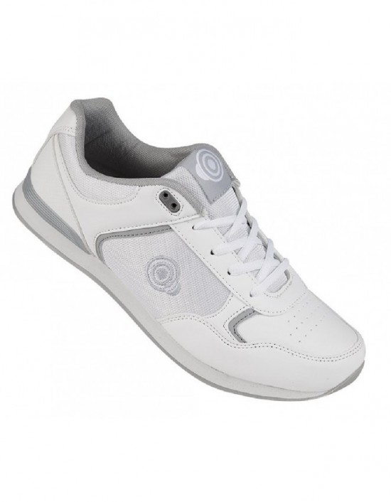 Unisex DEK U9529 Touch Fasten Leather Bowling Shoes White Leather