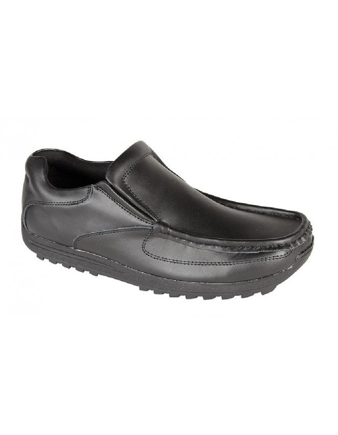 route21 albert coated leather gusset casual slip on