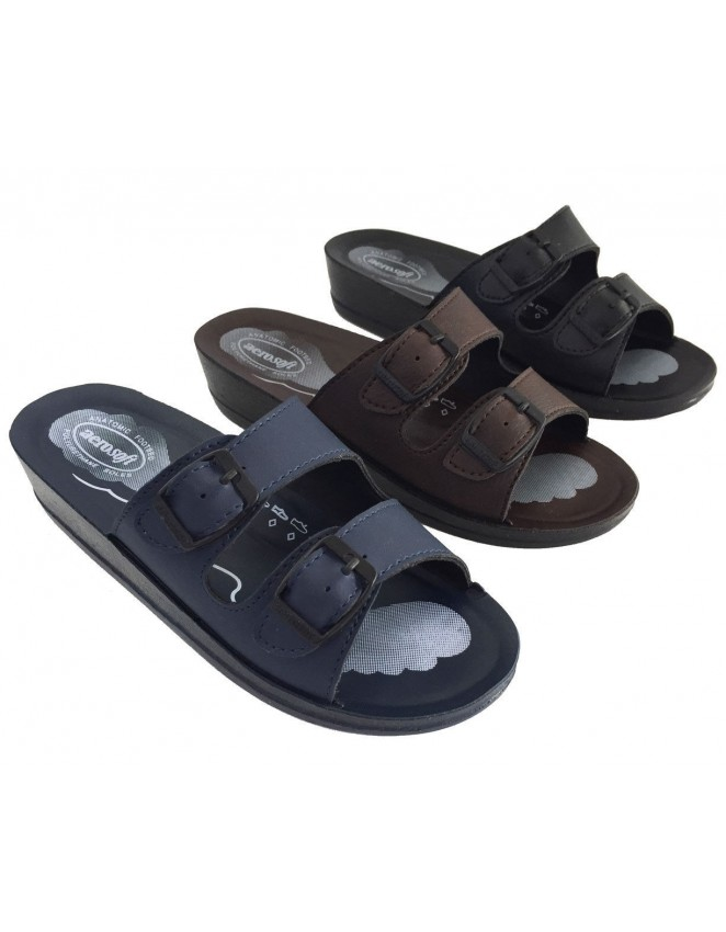 7a8350400a2487 Aerosoft Ladies Sandals Orthopaedic Comfort Sandals All Colours Buckle Style
