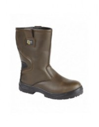 GRAFTERS M9532B Waterproof Brown Leather Safety Rigger Boots