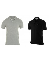 Mens Nike Slim Smart Fit Polo T Shirt Core Pique Grey