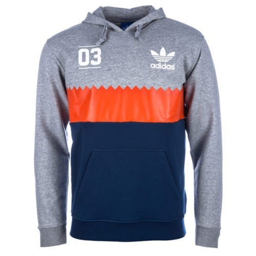 Details about Mens New Adidas Originals Serrated Trefoil Hoody GreyBlue