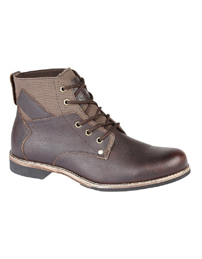 mens fashion boots woodland leather 5 eye ankle sock