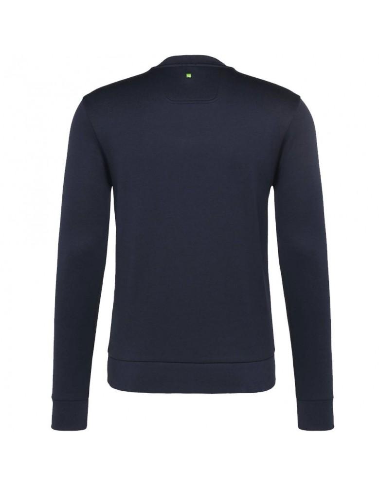38559e18e Hugo Boss Green Salbo 50302094 059 Round Neck Sweatshirt Navy Blue