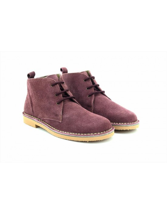 Roamers L777 Ladies 2 Eyelet Leather Fashion Ankle Desert Boots Light Taupe Real