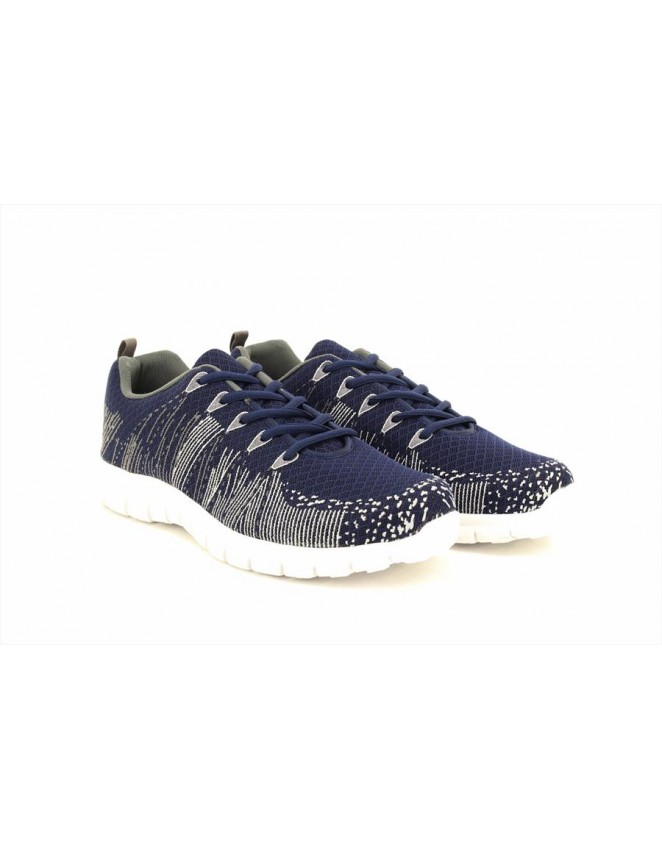 Dek Unisex COMET Lace Up Flexi Memory Sock Superlight Navy Lace Up Trainers