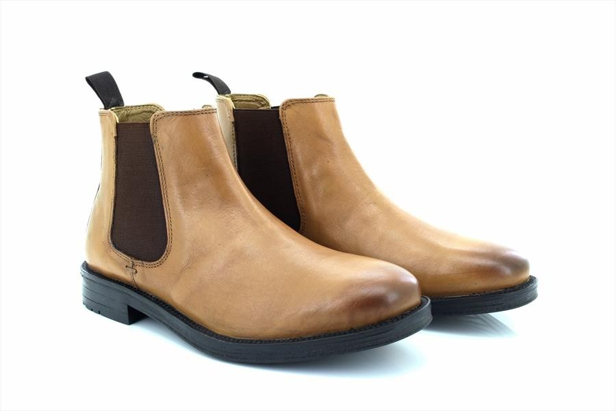 37ddc61a269 Roamers Roger M9525 Leather Twin Gusset Dealer Chelsea Ankle Boots